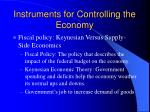instruments for controlling the economy2