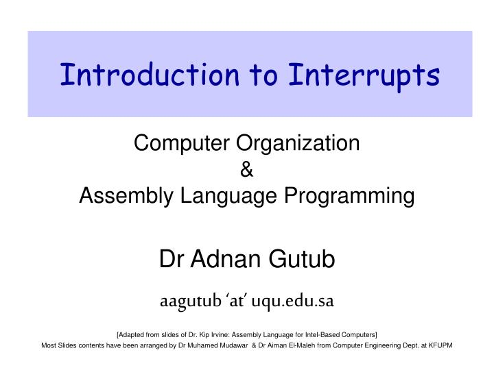 introduction to interrupts n.