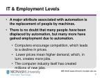 it employment levels