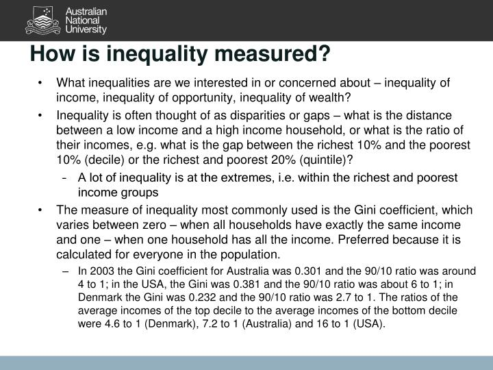 How is inequality measured?