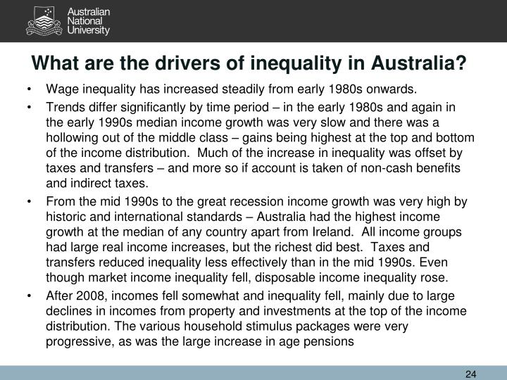 What are the drivers of inequality in Australia?