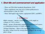 1 short title and commencement and application