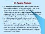 27 failure analysis