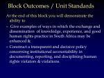 block outcomes unit standards1