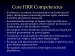 core hrr competencies