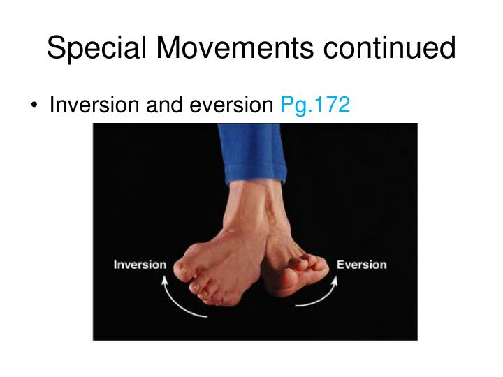 Special Movements continued