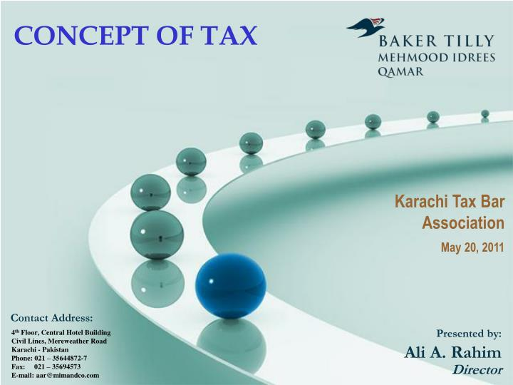 concept of tax n.
