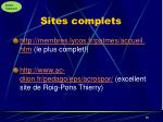 sites complets
