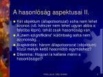 a hasonl s g aspektusai ii