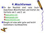 4 mischformen