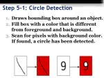 step 5 1 circle detection