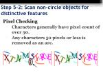 step 5 2 scan non circle objects for distinctive features