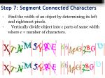 step 7 segment connected characters