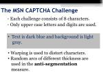 the msn captcha challenge