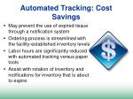 automated tracking cost savings