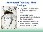 automated tracking time savings