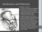 intolerance and nativism5