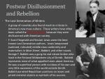 postwar disillusionment and rebellion3