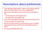 assumptions about preferences