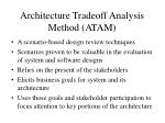architecture tradeoff analysis method atam