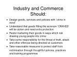 industry and commerce should