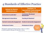 4 standards of effective practice