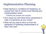 implementation planning