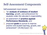 self assessment components
