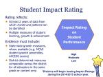 student impact rating1