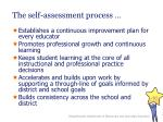 the self assessment process
