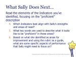 what sally does next