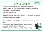 gdp curriculum