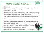 gdp evaluation outcomes