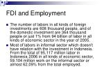 fdi and employment