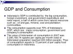 gdp and consumption