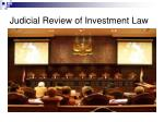 judicial review of investment law