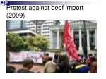 protest against beef import 2009