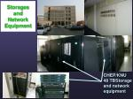 storages and network equipment