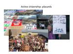 active citizenship placards