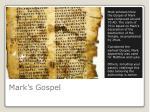 mark s gospel