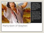 martyrdom of stephen