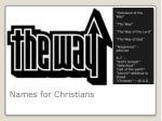 names for christians