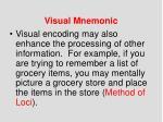 visual mnemonic