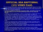 official sda baptismal 13 vows cont