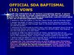 official sda baptismal 13 vows