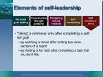 elements of self leadership4