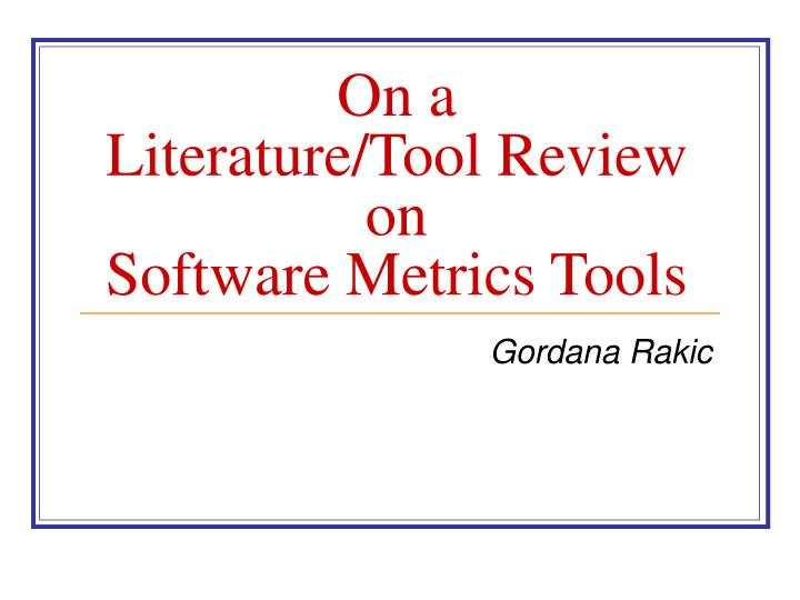 literature review software Distillersr is the world's most used systematic review software it was designed from the ground up to give you a better review experience, faster project completion and transparent, audit-ready results.