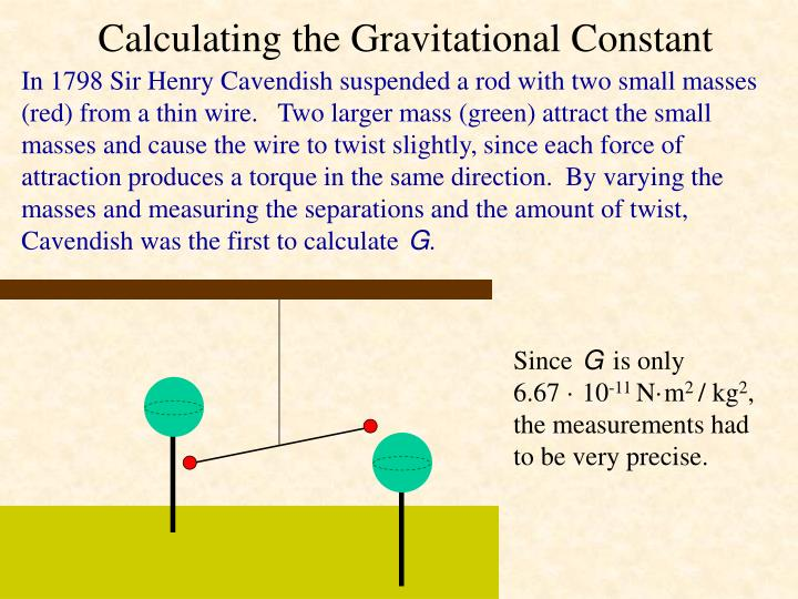Calculating the Gravitational Constant