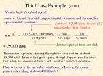 third law example cont