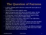 the question of fairness